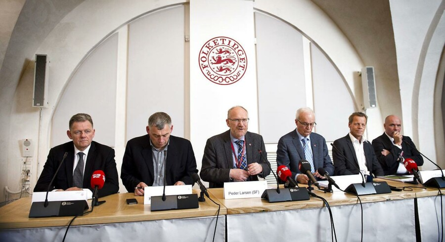 Statsrevisoratet - Fra venstre: Lars Barfoed, Klaus Frandsen, Peder Larsen, Henrik Thorup, Lennart Damsbo-Andersen og Søren Gade