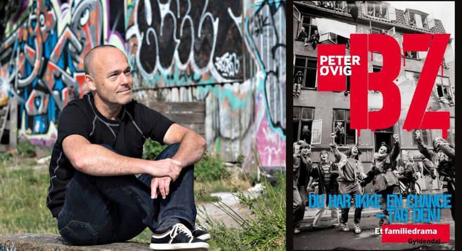 Peter Øvig (Foto: Jens Nørgaard Larsen) og forsiden af hans seneste bog.