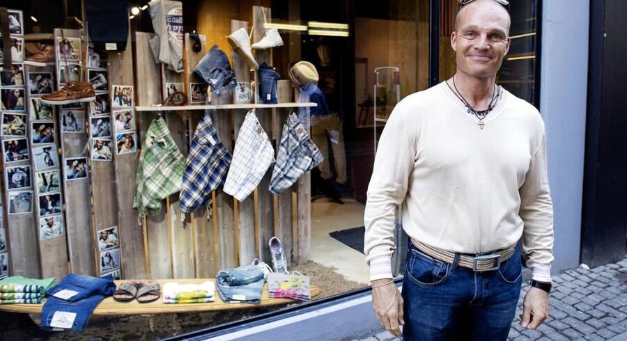 Stein Bagger på shopping i Pilestræde.
