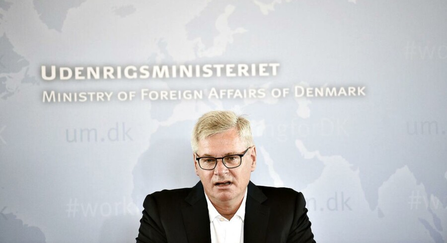 Peter Taksøe-Jensen holdte pressemøde om den udenrigspolitiske udredning i Eigtveds Pakhus mandag den 2. maj 2016. (Foto: Mathias Løvgreen Bojesen/Scanpix 2016)