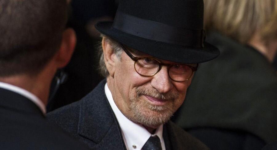 Den amerikanske filminstruktør Steven Spielberg ved premieren i Berlin på sin film »Spionernes bro« i Berlin. Foto: AFP/John MacDougall