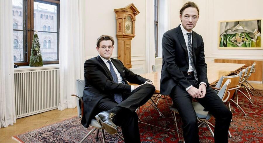 De to topfolk i Danske Banks corporate finance-afdeling, Christian Lindholm og Christian Hansen, har som rådgivere i de senere år stået bag hovedparten af de danske noteringer.
