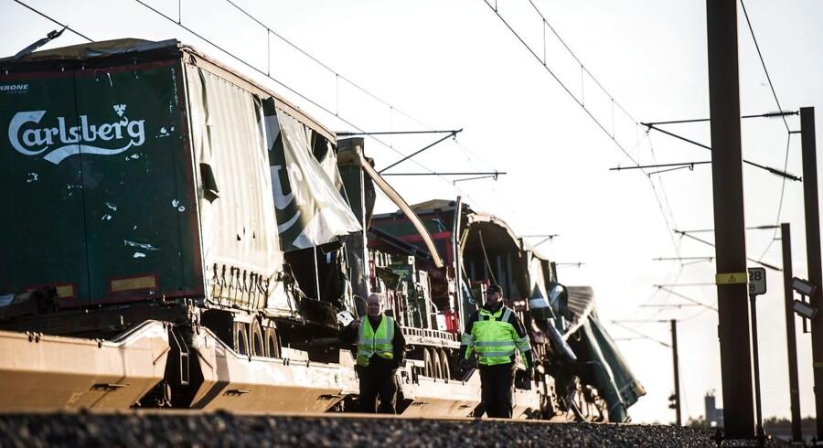 Togulykke ved Storebæltsbroen - her ved Nyborg, onsdag den 2. januar 2019. DSB meddeler at 6 personer er omkommet i ulykken.