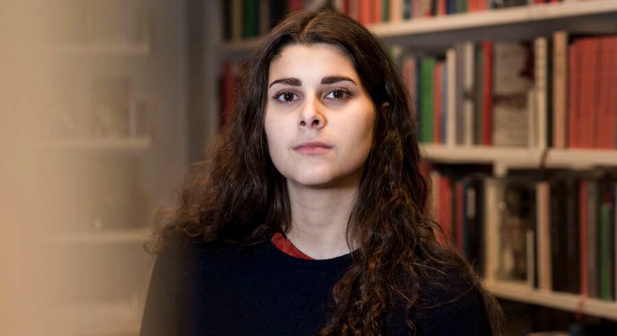 Forkvinde for Danske Studerendes Fællesråd Sana Mahin Doost, stud.scient.pol., 24 år. Hun var medunderskriver på det åbne brev fra 48 kvindelige studerende, der fik tre ministre til at skrive et hyrdebrev til universiteter og offentlige arbejdspladser om at tage seksuelle krænkelser alvorligt.