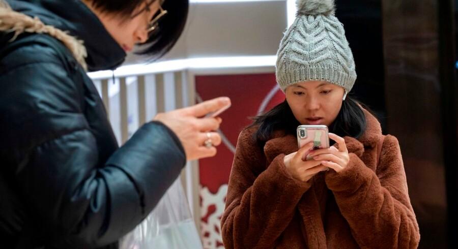 Apple oplever i øjeblikket store problemer på sit næststørste marked – Kina. Foto: AFP/Nicolas Asfouri/Ritzau Scanpix