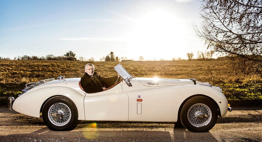 Palle Murmann, manden bag klassikerbutikken Daytona, kører blandt andet selv en Jaguar XK120 fra 1953.