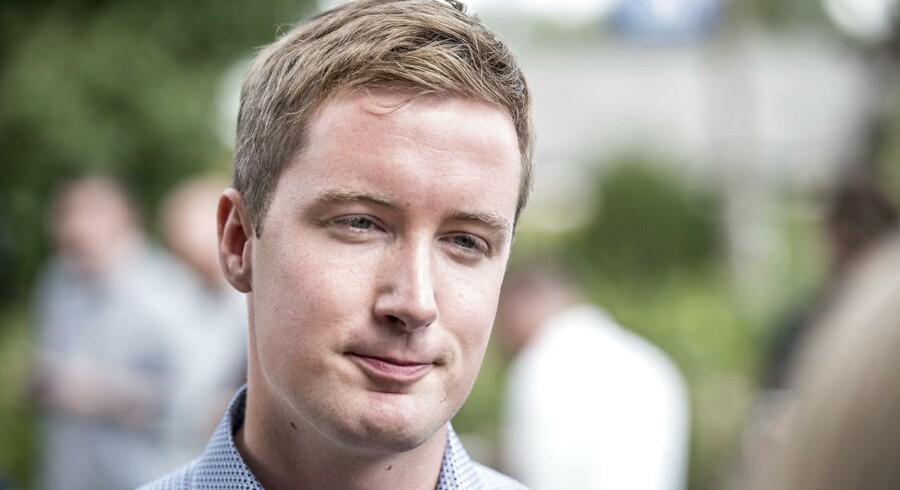 27-årige Jacob Mark sidder i Folketinget for SF. Han har en bachelor fra RUC.