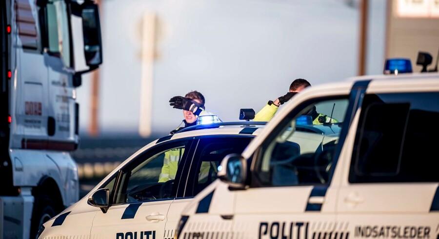 28. september 2018 afspærrede politiet store dele af landet i jagten på en formodet iransk dødspatrulje, der angiveligt var ude efter eksil-iranere, der holder til i Ringsted. Arkivfoto: Mads Claus Rasmussen/Ritzau Scanpix