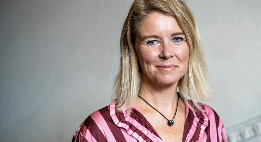 Borgmesterportrættet af Pia Allerslev (V) hænger i Magistratsalen på Københavns Rådhus. Portrættet kan ses længere nede i artiklen.