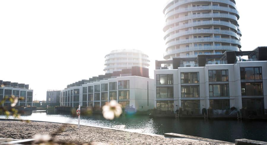 30 års afdragsfrihed er efterspurgt blandt landets boligejere. Her arkivfoto af boliger på Islands Brygge i København.