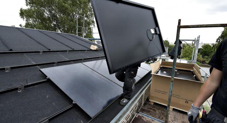 Engang gav det mening at montere solceller på taget.