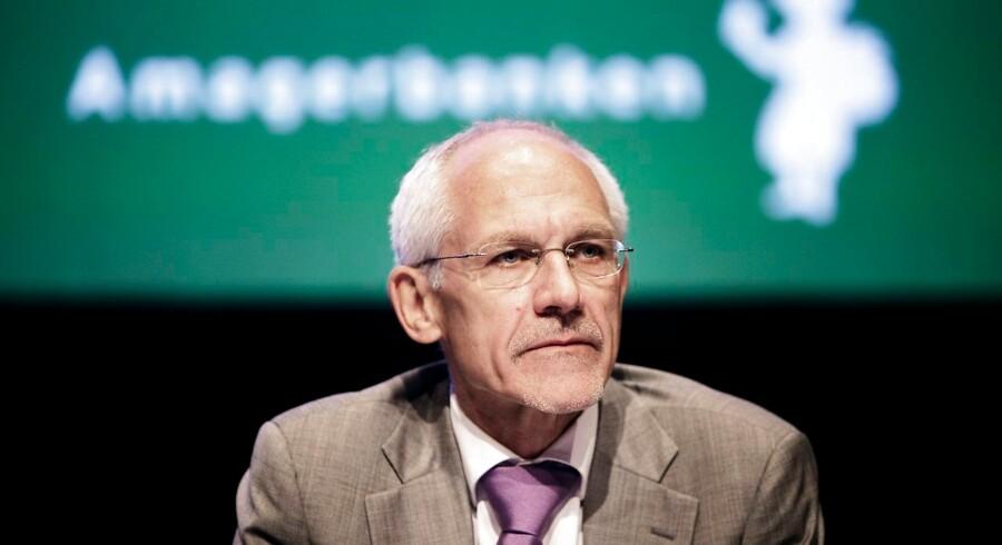 Advokat N. E. Nielsen, tidligere bestyrelsesformand i Amagerbanken, er en af de mest prominente sagsøgte i Finansiel Stabilitets erstatningssag mod bankens tidligere ledelse, som i dag indledes i Østre Landsret. Arkivfoto: Christian Als/Ritzau Scanpix