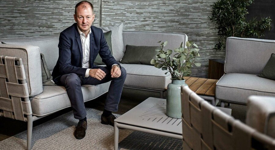 Brian Djernes er administerende direktør i virksomheden Cane-Line, der ligger i Rynkeby på Fyn. Omkring 90 pct. af Cane-lines omsætning er baseret på eksport, men Brian Djernes fremhæver, at der er stor usikkerhed om 2019. Foto: Sophia Juliane Lydolph/Ritzau Scanpix