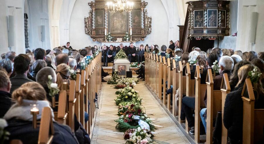 Line Grønnemose Henriksen, et af ofrene fra togulykken på Storebælt, bisættes fra Tved Kirke lørdag den 12. januar 2019. . (Foto: Nils Svalebøg/Ritzau Scanpix)