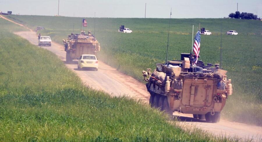 Arkivfoto. Amerikanske tropper har i årevis kæmpet side om side med kurderne i Syrien. Men nu er de på vej hjem.