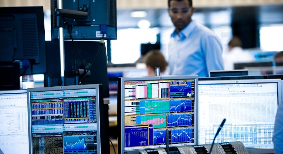 Det er svært for investeringsforeningerne at slå et indeks over det generelle aktiemarked i USA og i Europa. Arkivfoto: