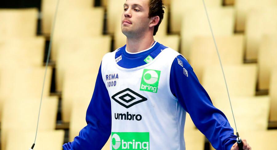 Sander Sagosen under dagens træning.