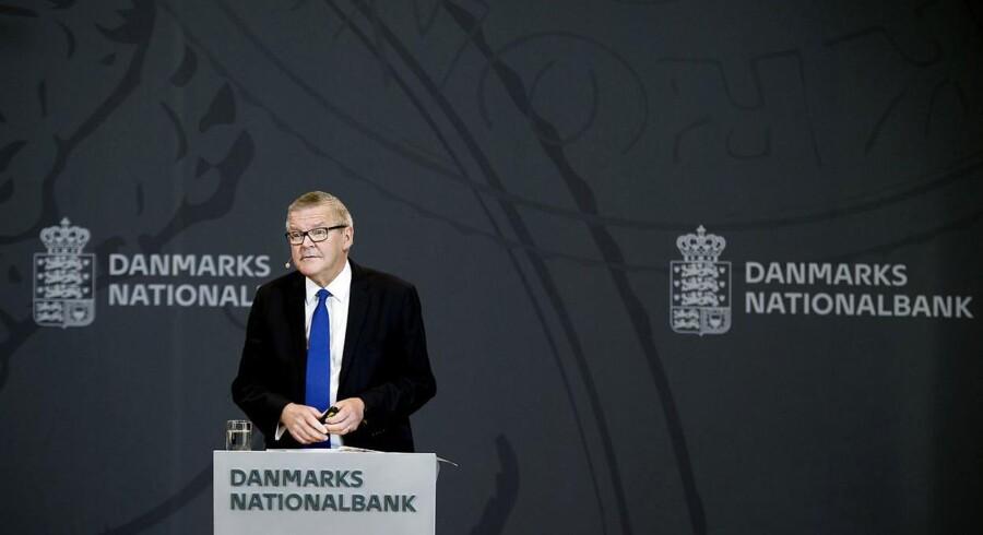 Nationalbankdirektør Lars Rohde og Danmarks Nationalbank har som den eneste centralbank i verden blankt afvist ideen om at indføre en digital E-krone. Foto: Liselotte Sabroe/Ritzau Scanpix