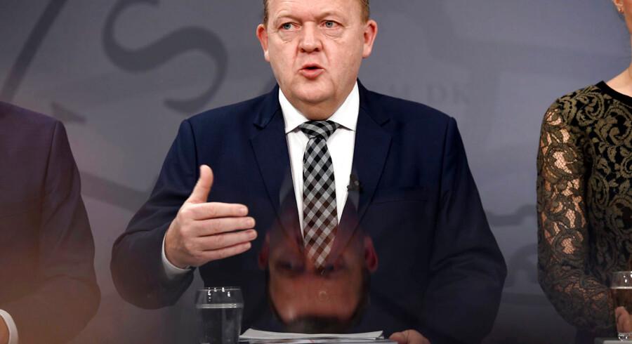 »Udspillet indeholder en lang række fornuftige ideer, og der er primært tre grunde til at rose det.« Statsminister Lars Løkke Rasmussen ved præsentationen onsdag af sundhedsreform-udspillet.
