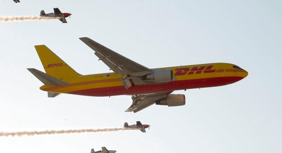 DHL Express har en flåde på 260 fragtfly. Det er imidlertid ikke indtjeningen fra selve fragten, som er den vigtigste motivation for Københavns Lufthavn i aftalen med DHL Express, men derimod at en fragtterminal også vil gøre det mere attraktivt for kommercielle flyselskaber at åbne passsagerflyruter til København. Arkivfoto: Ritzau/Scanpix