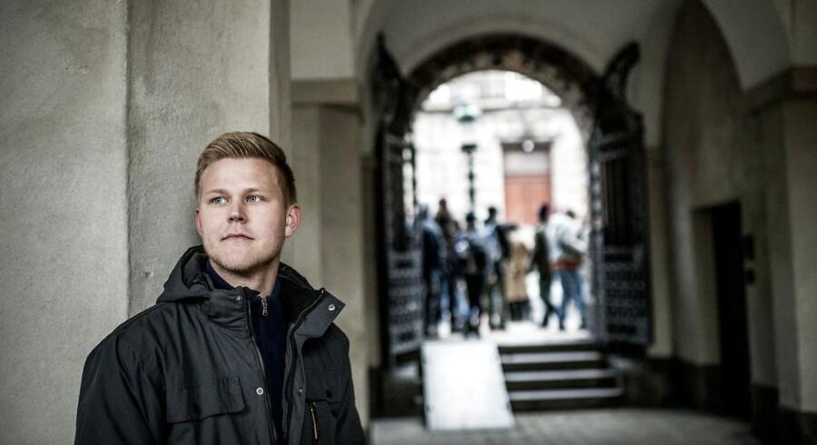 Frederik Roland Sandby er en af de flere og flere universitetsstuderende, der melder sig ind i klimakampen og forlanger, at deres egen institutioner gør mere for at begrænse udslippet af drivhusgasser.