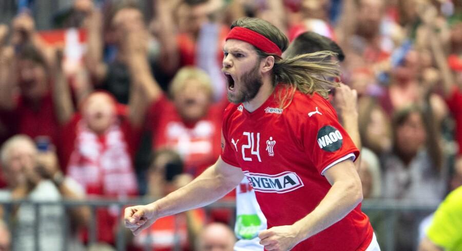 Mikkel Hansen scorede 14 mål i sejren over Norge ved VM i Håndbold (Foto: Henning Bagger/Ritzau Scanpix)