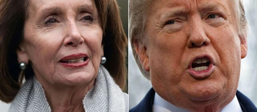 En bitter magtkamp mellem Nancy Pelosi, demokraternes majoritetsleder i Repræsentanternes Hus, og præsident Donald Trump har ikke hjulpet på at finde en løsning på den historisk lange nedlukning af dele af den offentlige sektor i USA. (AFP)