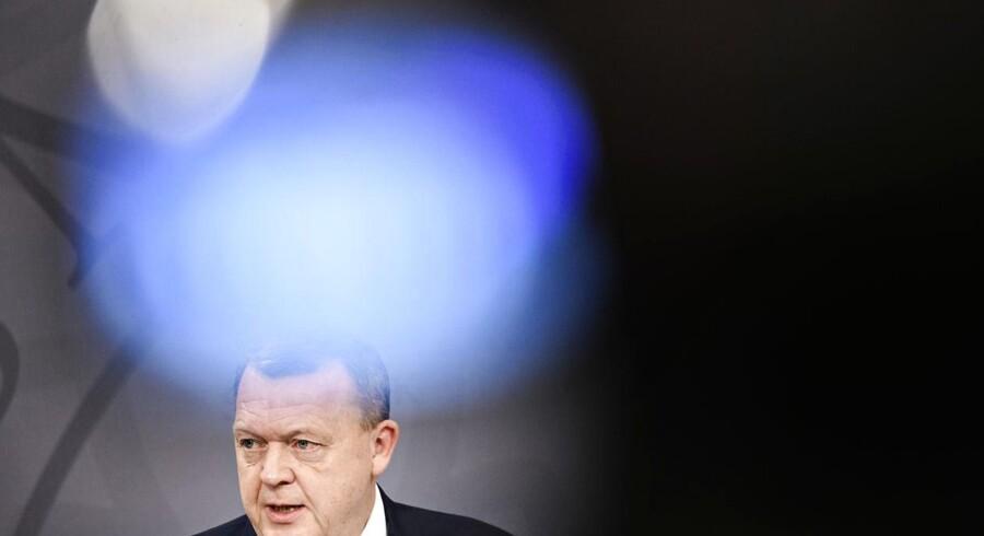 Statsminister Lars Løkke Rasmussen (V), da Regeringen præsenterede et udspil til en sundhedsreform. Foto: Philip Davali/Ritzau Scanpix