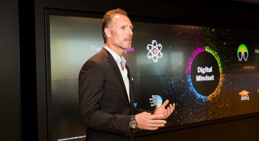 SAPs øverst ansvarlige for digital transformation, Jesper Schleimann, har haft besøg af mere end 5.000 mennesker i det digitale udviklingscenter, som den tyske software-gigant har etableret i København. Nu bredes idéen ud til andre lande. Foto: SAP