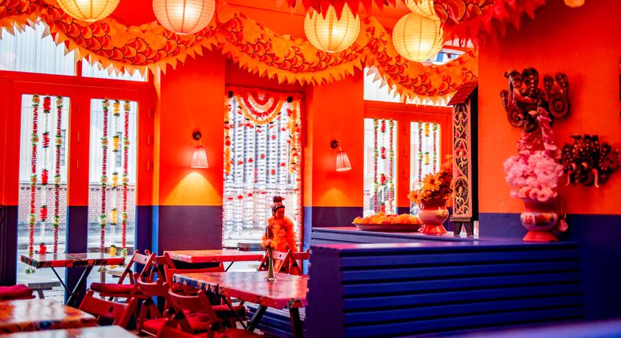 Der er pang på farverne på den nye Falang Asiateria, som kombinerer mad og cocktails.