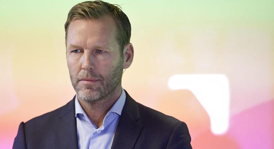 Det skorter ikke på udfordringer for Johan Dennelind, der for fem år siden overtog ledelsen af Nordens største teleselskab. Arkivfoto: Janerik Henriksson/TT/AFP/Ritzau Scanpix
