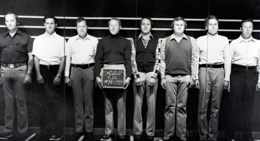 Her ses den 'lineup', som Ted Bundy blev stillet op i for at blive identificeret.