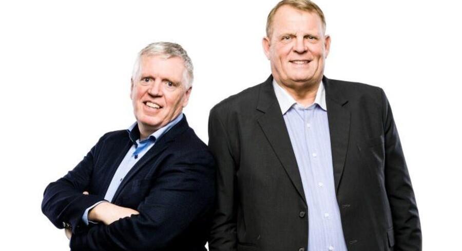To særdeles velbevandrede herrer fra den danske TV-leverandørverden, YouSees direktør gennem mange år Niels Breining (til venstre) og YouSees tidligere salgsdirektør Freddie Fjeldsted (til højre), går med i det nystartede Fastspeed for at ændre det danske bredbåndsmarked. Foto: Fastspeed