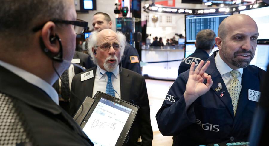 Helt i top: Januar har været en historisk forrygende måned for aktiemarkederne. Foto: Brendan McDermid/Reuters/Ritzau Scanpix