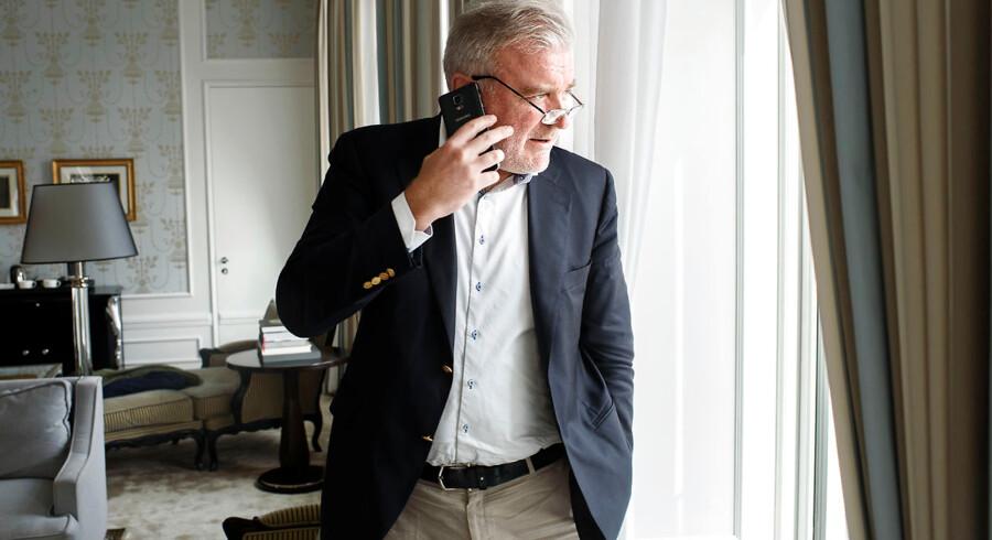 Arkivfoto: Milliardær Lars Seier Christensen står bag Concordium Foundation, som giver 50 millioner kroner til blockchain-forskning på Aarhus Universitet. Her ses han i sin suite på Hotel D' Angleterre.