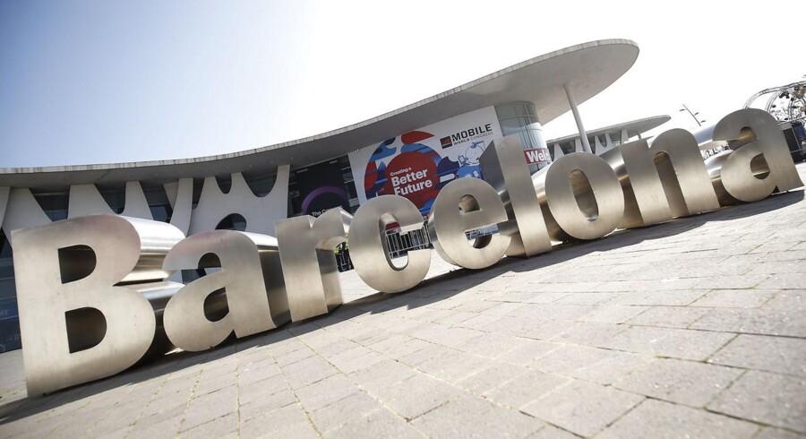 Der er indkaldt til krisemøde blandt Europas mobilproducenter på verdens største mobilmesse, Mobile World Congress, som holdes i 25.-28. februar i Barcelona. Arkivfoto: Pau Barrena, AFP/Ritzau Scanpix