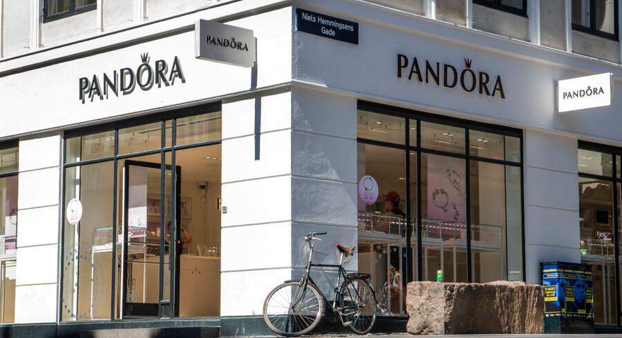 Salget i de eksisterende Pandora-butikker er i 2018 faldet.