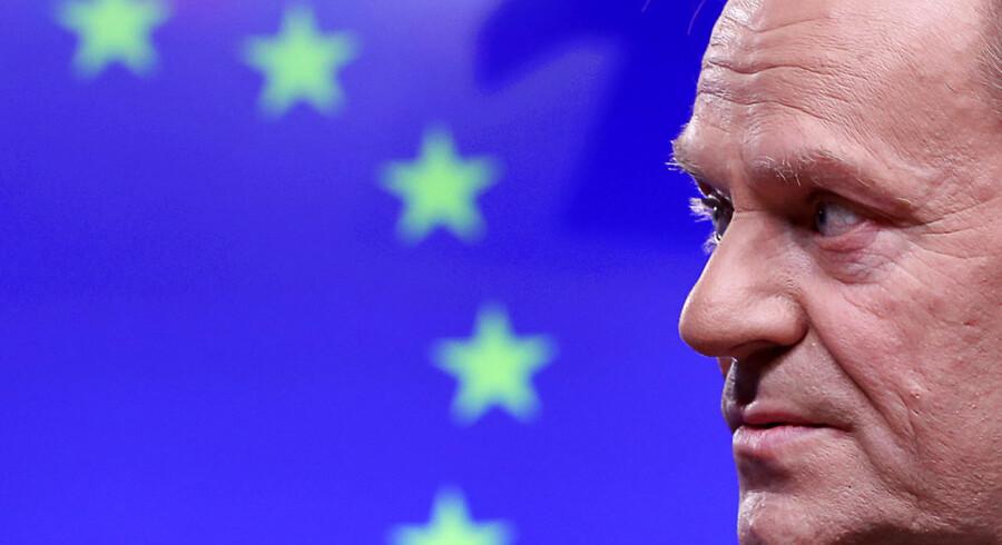 Formanden for Det Europæiske Råd, Donald Tusk, er tydeligvis ved at være godt træt af, at Brexit-forhandlingerne står stille. Der er 50 dage til briternes farvel.