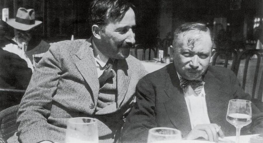 Genier på sommerferie: Stefan Zweig og Josef Roth i Ostende, 1936.