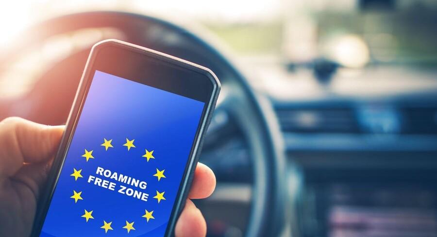 Der er ingen garanti for, at den roamingfri zone i de i dag 28 EU-lande består uændret, når Storbritannien forlader EU 29. marts, fastslår britisk minister. Arkivfoto: Iris/Ritzau Scanpix