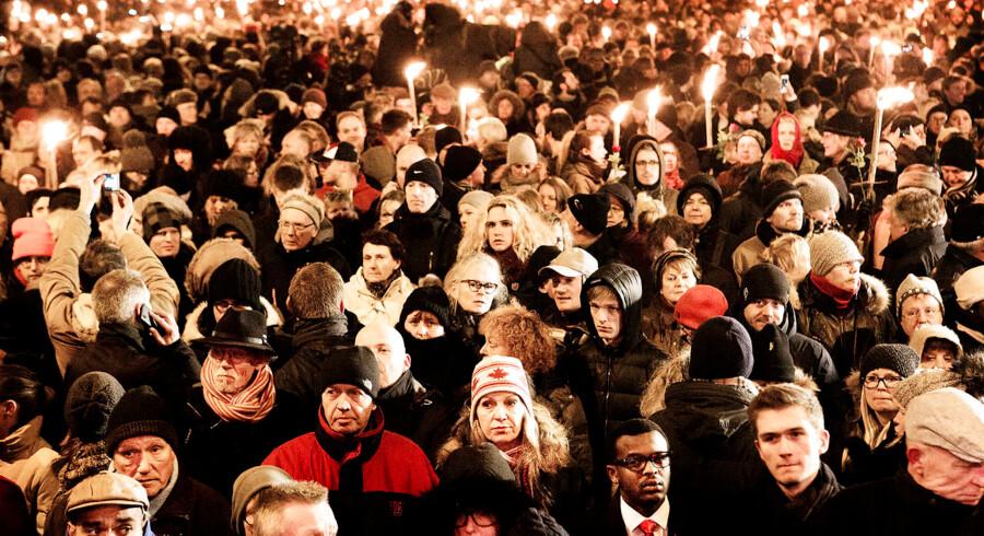 Tusinder af danskere deltog 16. februar i en mindehøjtidlighed for ofrene for Omar El Husseins terrorangreb.