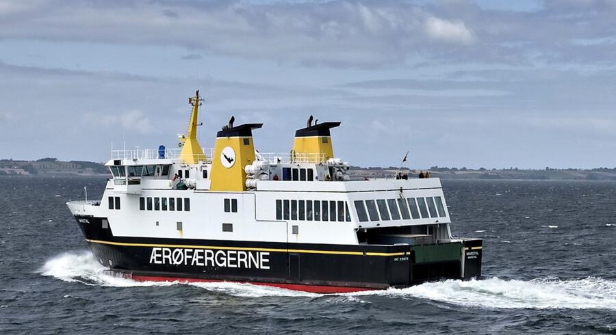 Der er jævnligt sejlads med færge mellem Ærø og Svendborg. Overfarten tager en time og 15 minutter. (Arkivfoto). Jens Nørgaard Larsen/Ritzau Scanpix