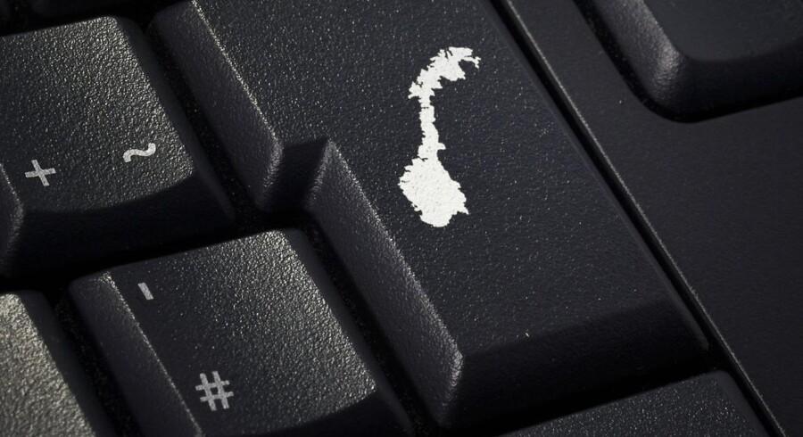 Al datatrafik ind og ud af Norge skal kunne gemmes af forsvarets efterretningstjeneste, mener regeringen, men det nye lovforslag går langt over grænsen og bliver digital masseovervågning, advarer det norske datatilsyn. Arkivfoto: Iris/Ritzau Scanpix