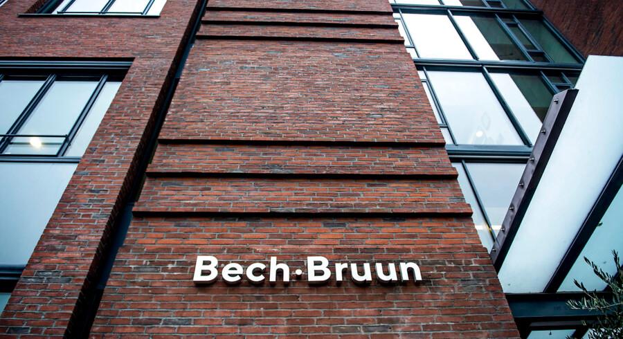 Advokatfirmaet Bech-Bruun i København mandag den 5. november 2018. Advokatfirmaet Bech-Bruun, der står for undersøgelsen af svindel med udbytteskat, har rådgivet en bank, der har været med i svindlen.