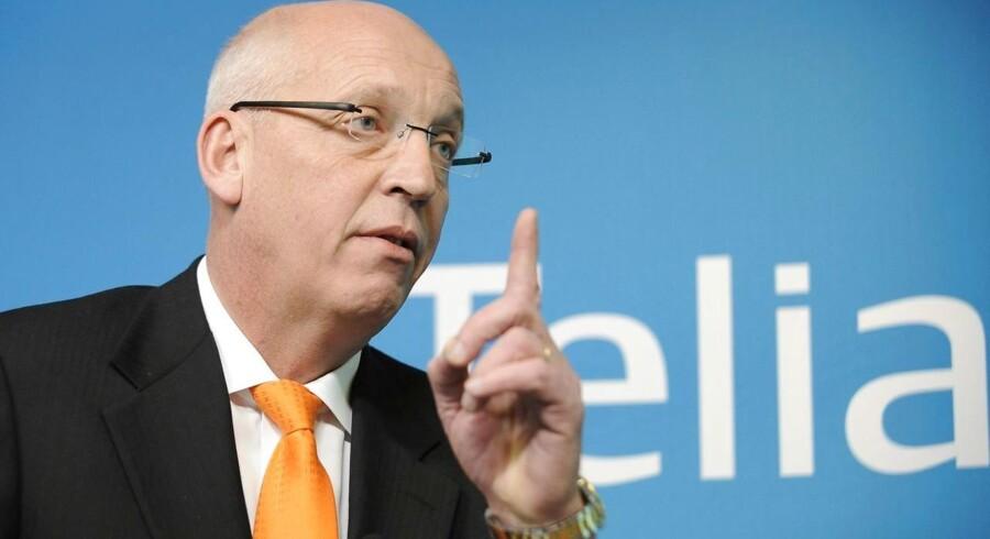 Retssagen mod Telias tidligere topchef, Lars Nyberg, og to andre Telia-chefer har kørt i seks måneder ved Stockholms Tingsrätt. Arkivfoto: Anders Wiklund, Reuters/Ritzau Scanpix