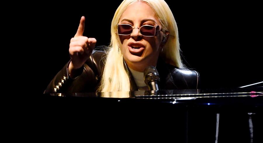 Lady Gaga under en optræden i Las Vegas i 2016. Nu spiller hun der fast på en såkaldt residence.