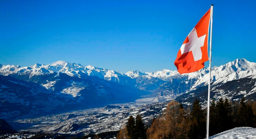Arkiv. Crans-Montana i Valais.