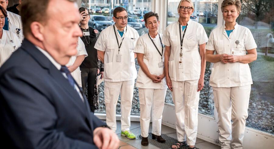 Statsminister Lars Løkke Rasmussen besøger Slagelse Sygehus, i forbindelse med lanceringen af regeringens sundhedsreform.