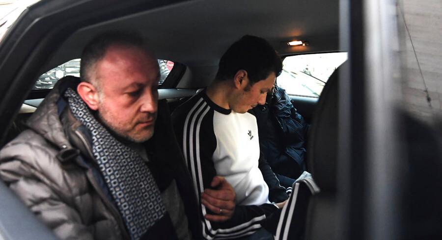 Marco Di Lauro umiddelbart efter arrestationen lørdag. Foto: Salvatore Laporta, Ritzau Scanpix.