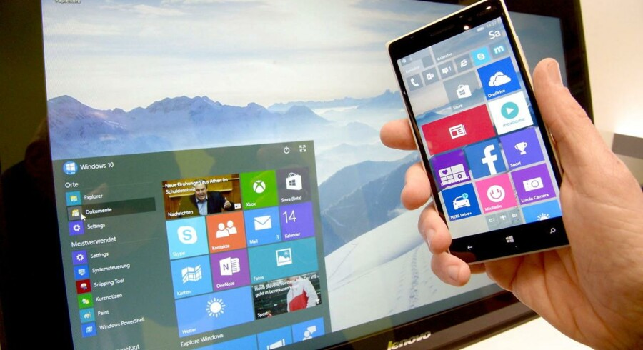 En ny og neddroslet udgave af Windows vil bl.a. bruge Microsofts erfaringer fra det nu skrinlagte Windows Phone for at sikre nemmere, berøringsfølsom betjening. Arkivfoto: Peter Steffen, EPA/Ritzau Scanpix